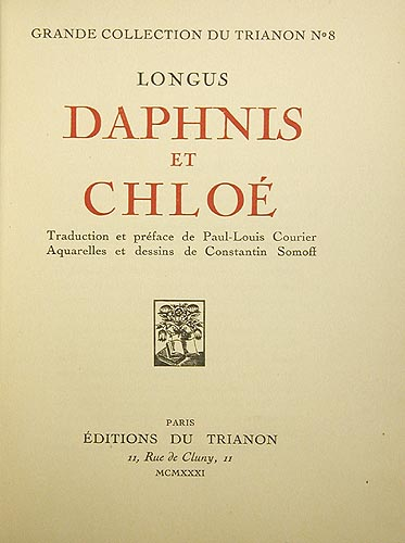 Daphnis et Chloe Серия: Grande collection du Trianon инфо 9214g.